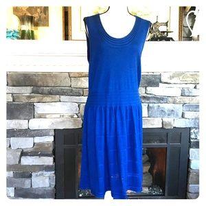 Max Studio knit blue dress
